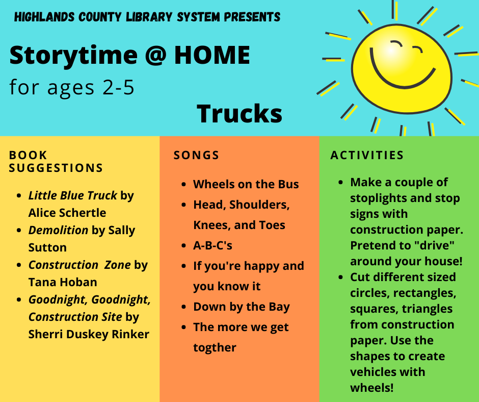 Storytime at home: Truck - Image of PDF
