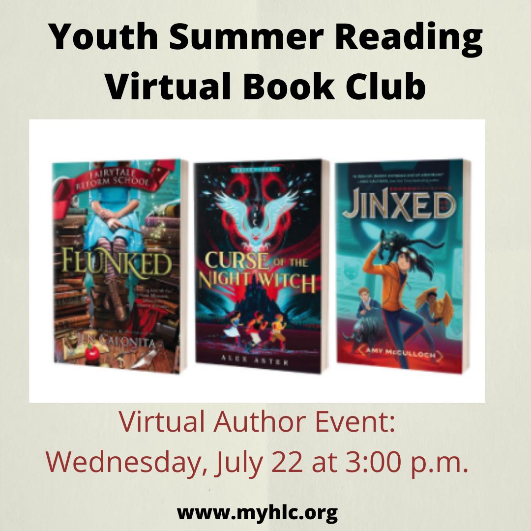 Virtual Youth Summer Reading Program Book Club