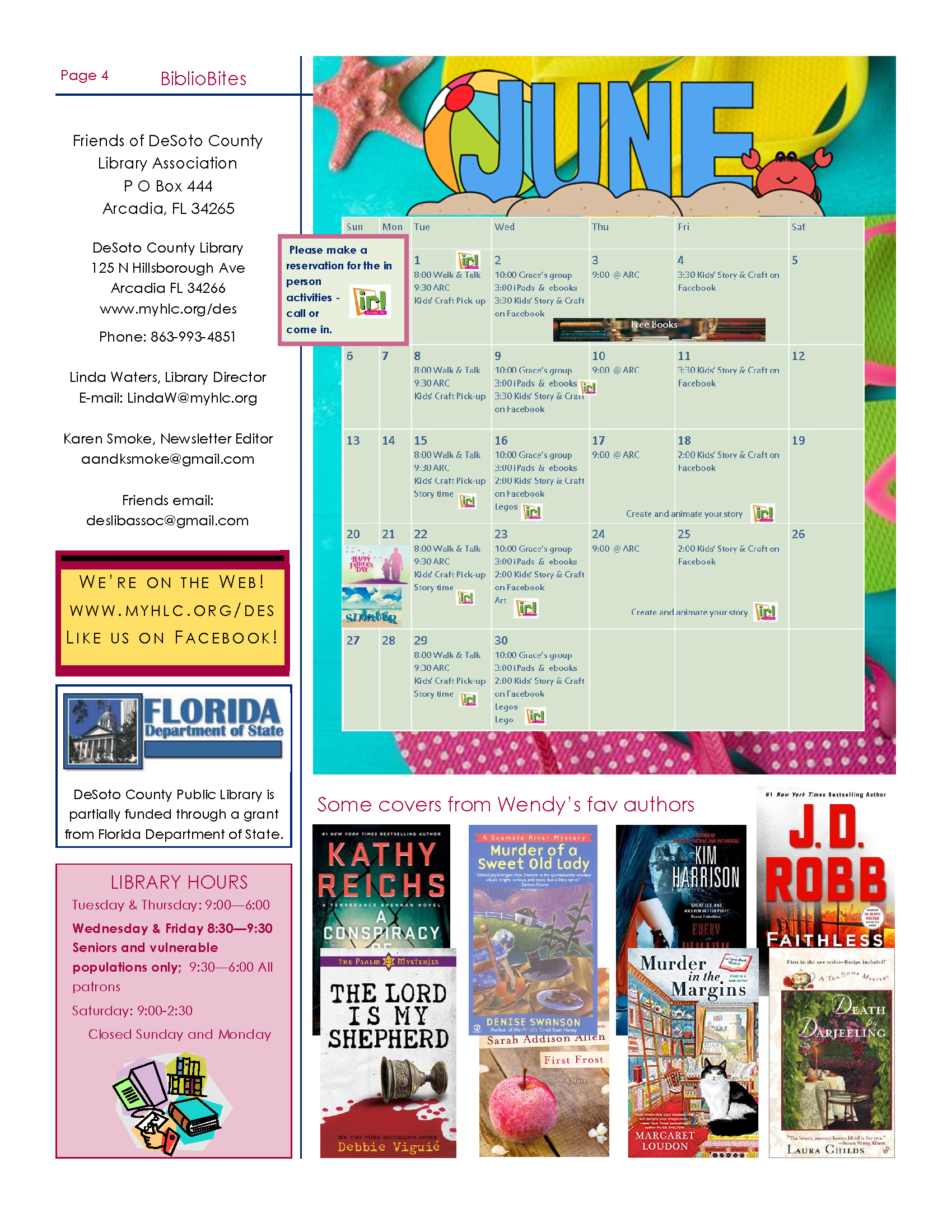 Page 4 of Newsletter