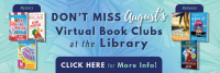 August virtual book clubs graphic