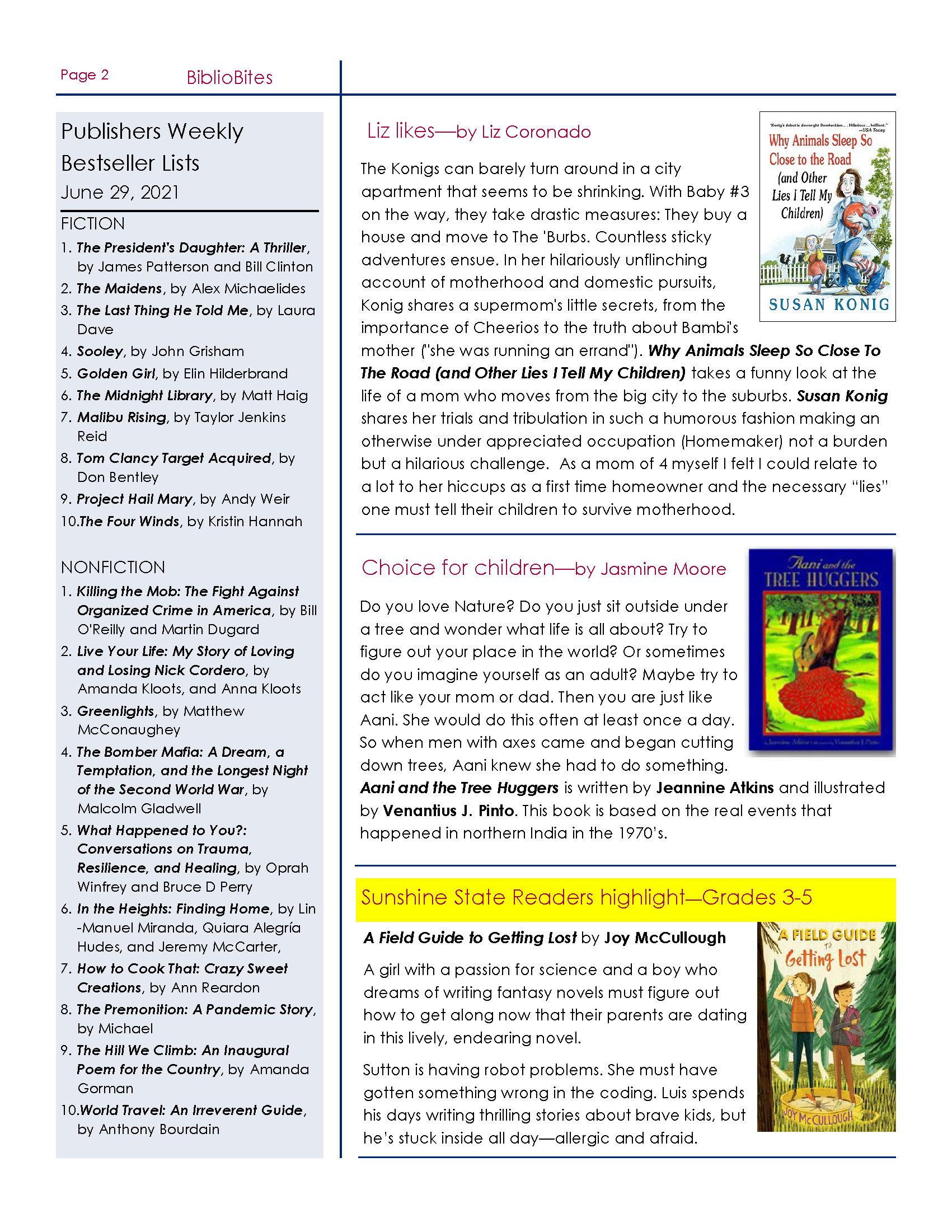 DeSoto Friends July Newsletter Page 2