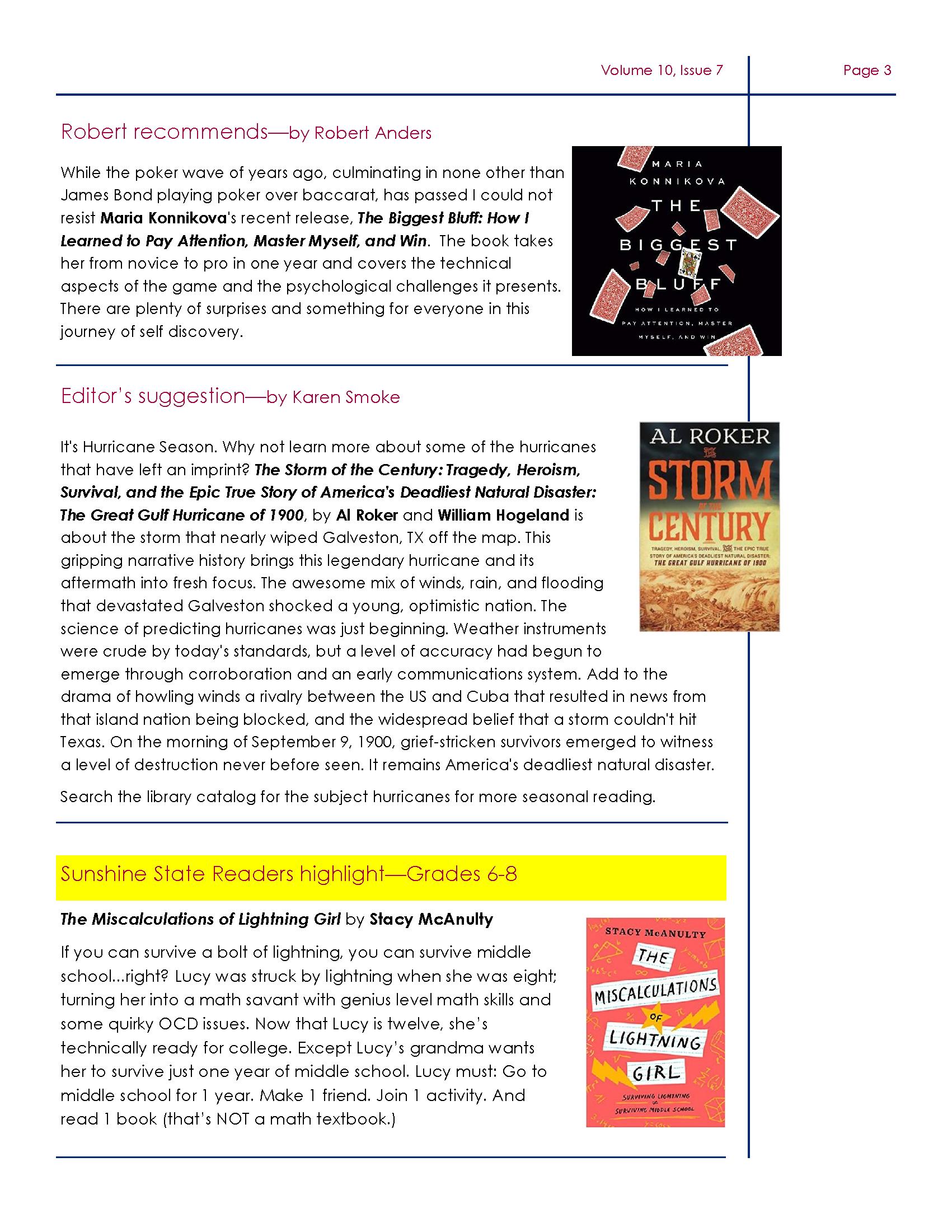 DeSoto Friends July Newsletter Page 3