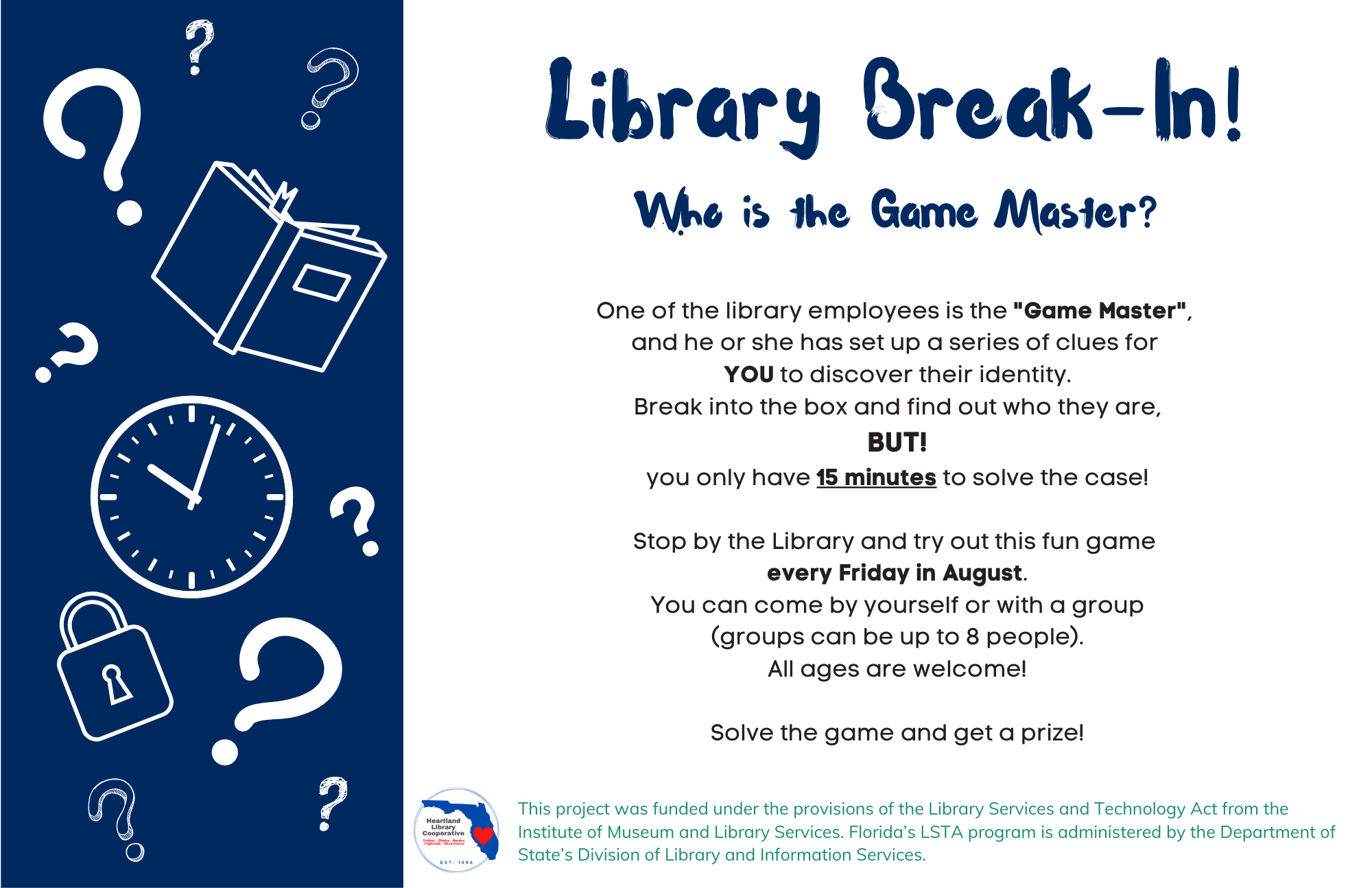 Library Break-In! Who is the Game Master?