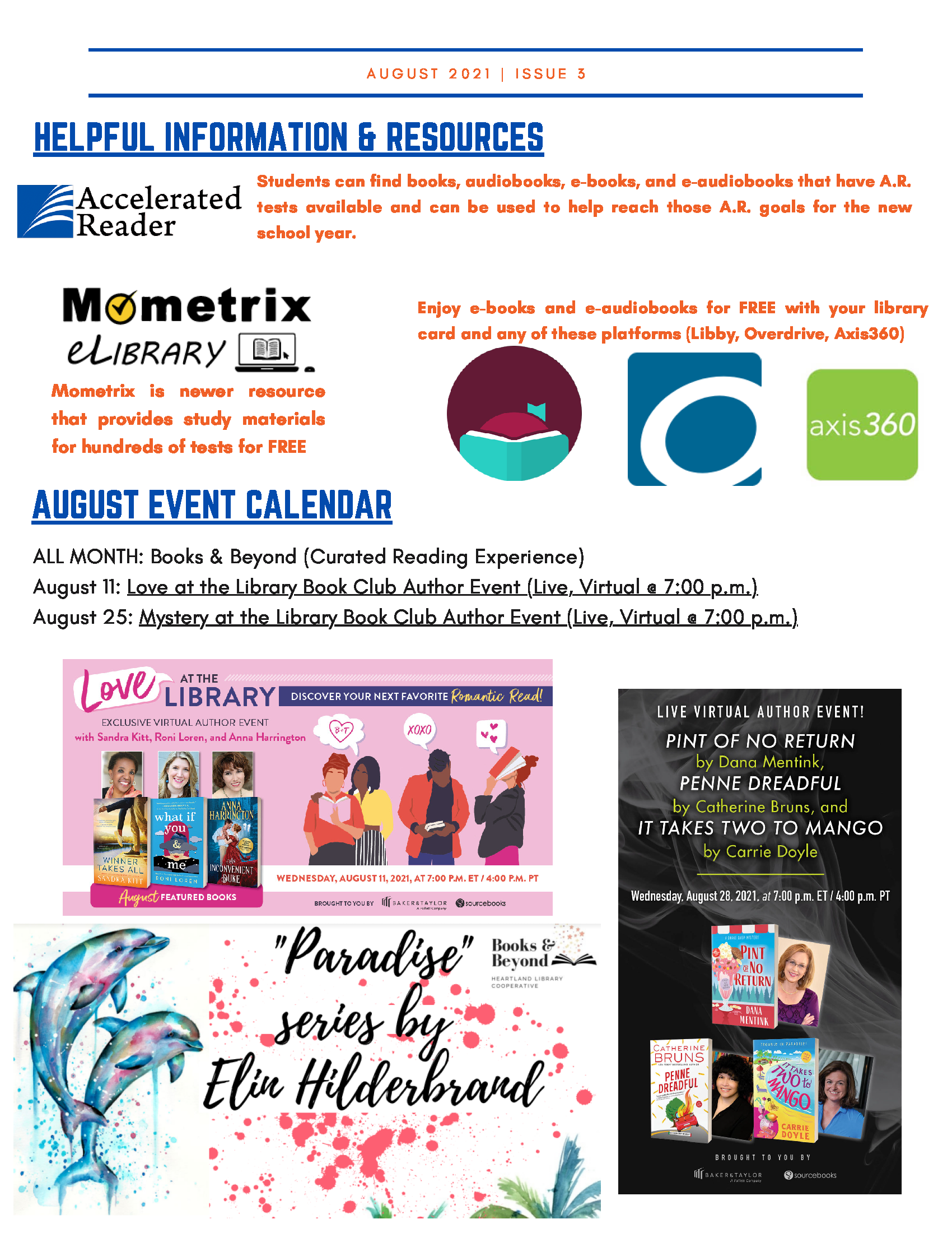 Highlands County Libraries August Newsletter