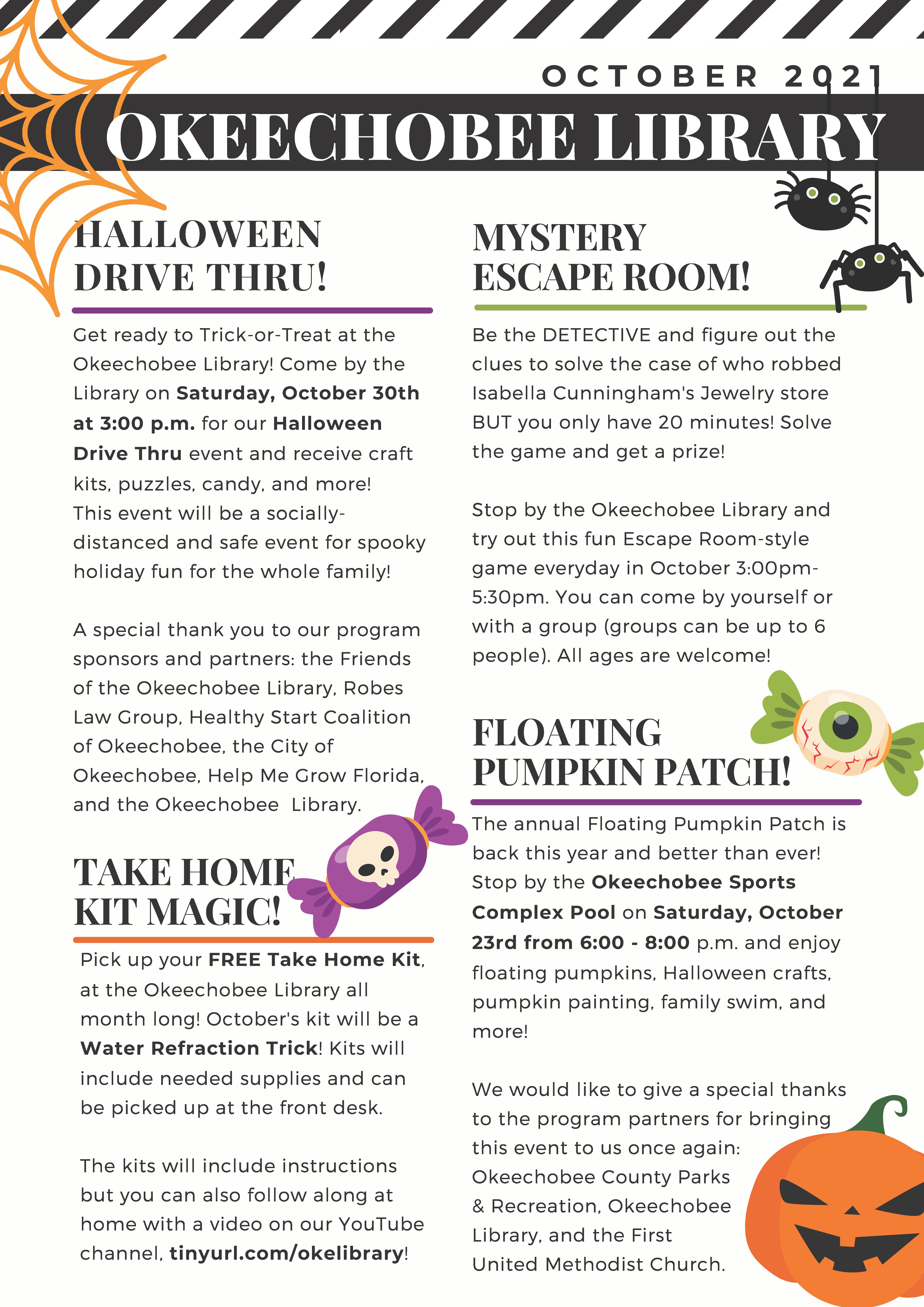 Okeechobee Library October Newsletter