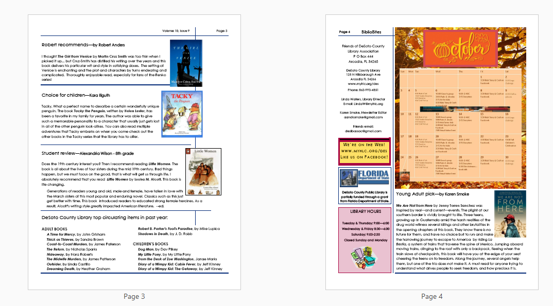 Image of pages 3-4 of DeSoto Newsletter, available in downloadable PDF