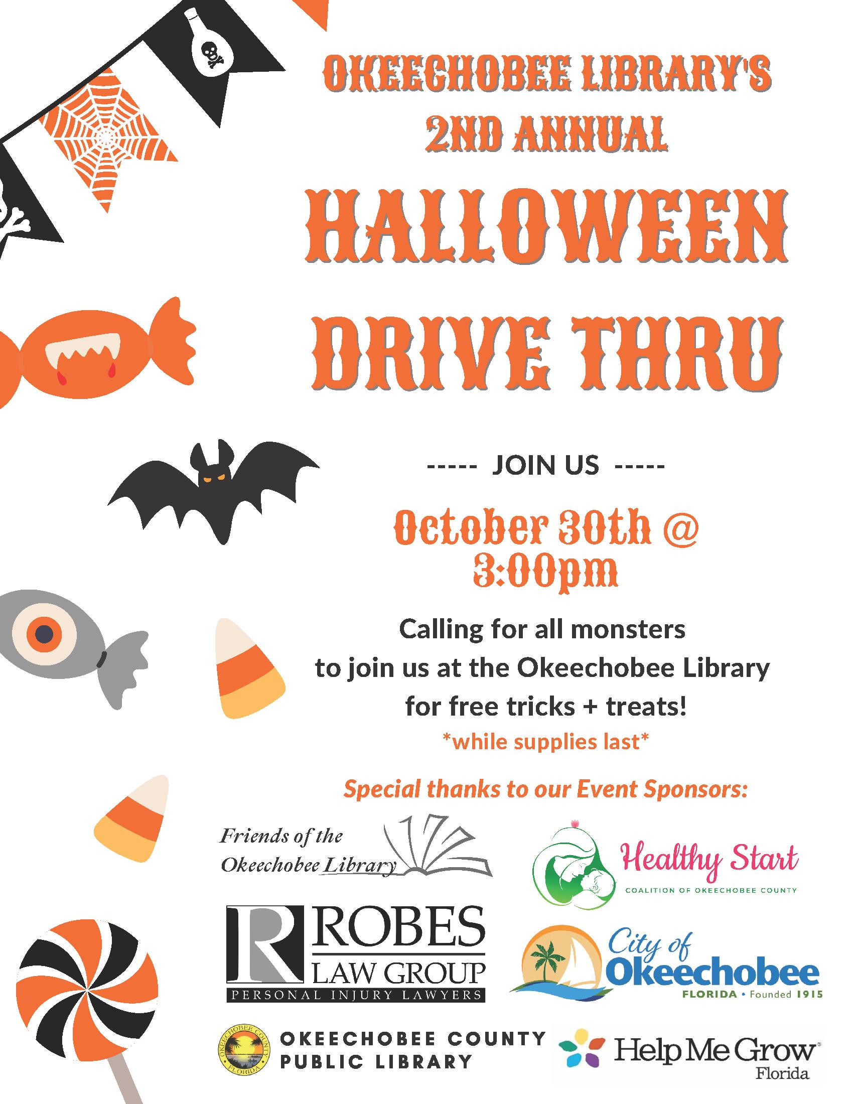 Okeechobee-Library-Halloween-Drive-Thru-Event.