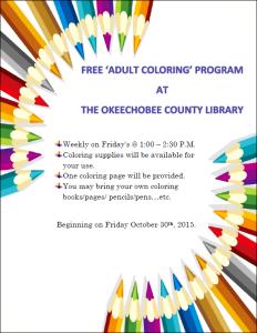 Okeechobee Coloring Time