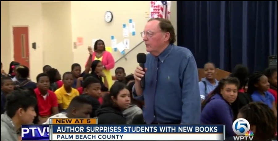 """Author James Patterson encourages reading among students at Boynton Middle school in Palm Beach County. He also gave away 25,963 copies of """"Middle School the worst years of my life,"""" and """"Maximum Ride: the Angel Experiment,"""" so that every sixth and seventh grader had their own book to read. Read the article to see how Patterson is doing his part to """"Make America READ again."""