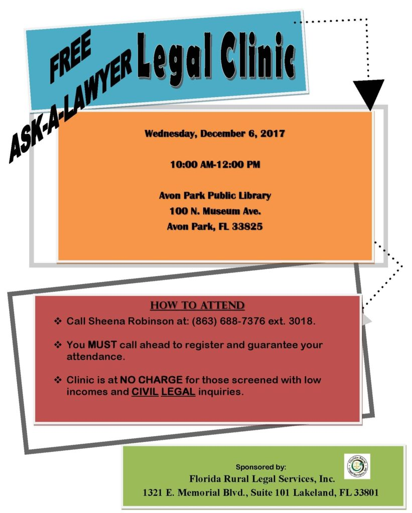 Ask-a-Lawyer Flyer