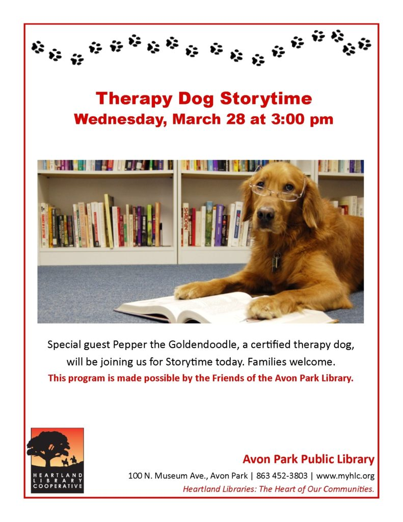 Therapy Dog Storytime