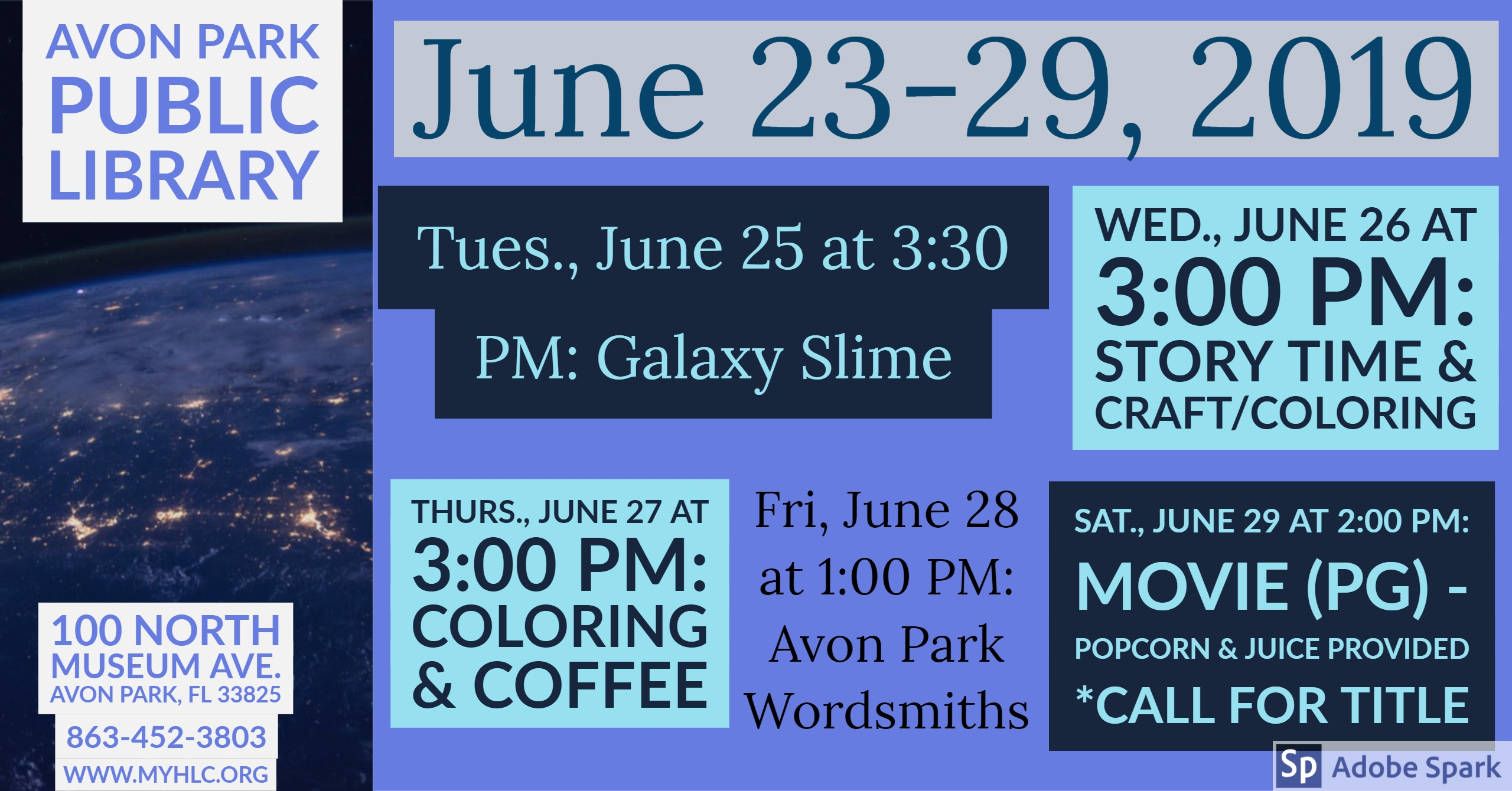APL Events for June 23-29