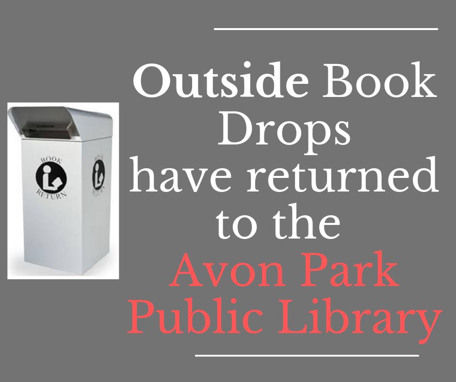 Avon PArk Bookdrops are back!