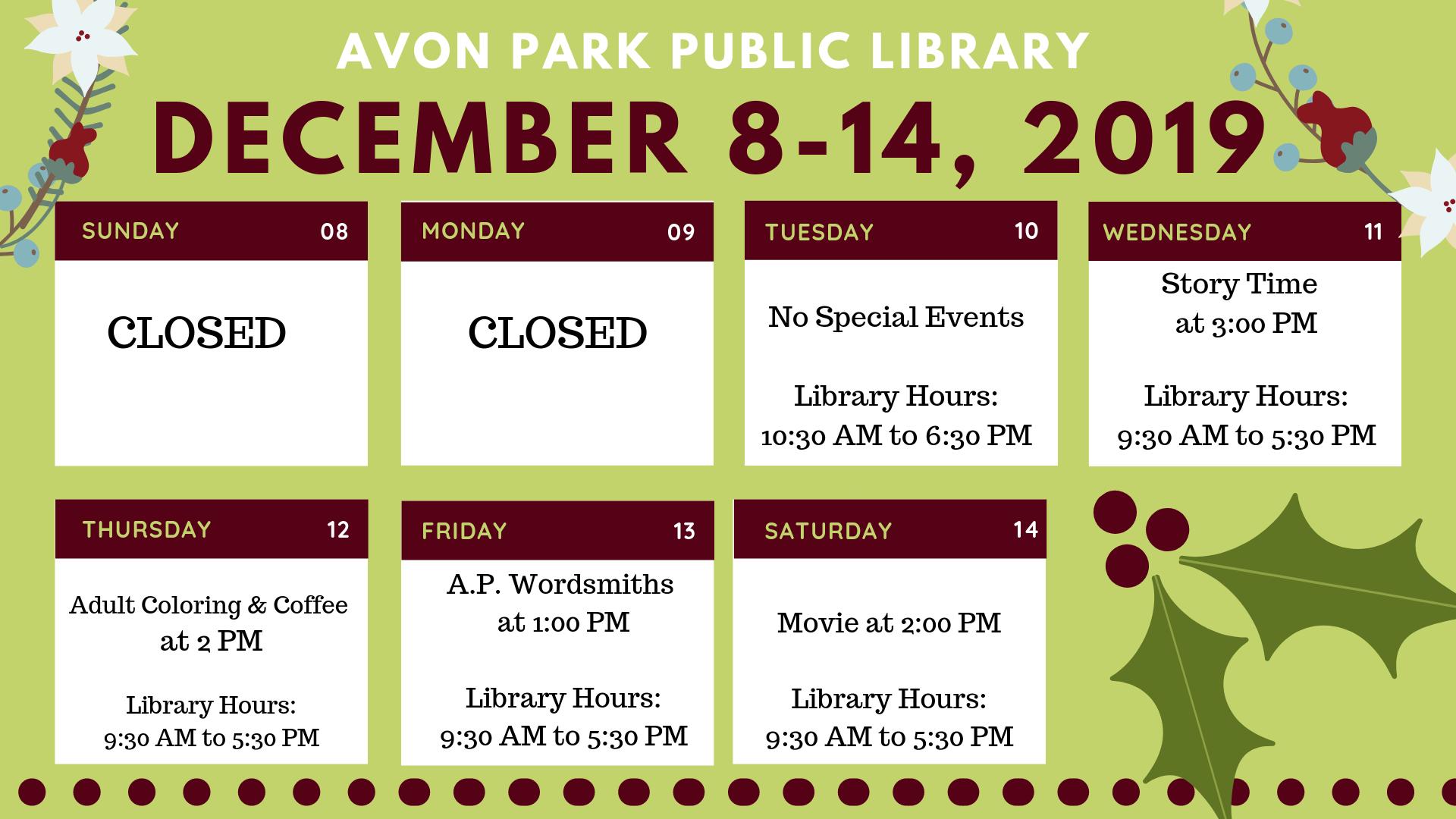 APL December 8-14