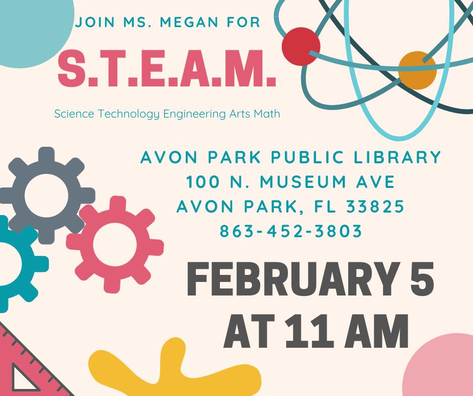 Avon Park Public Library's S.T.E.A.M. event on February 5, 2020