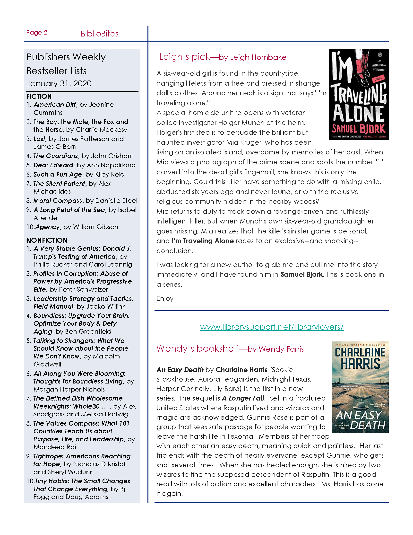 DeSoto County Library 2-20 Newsletter