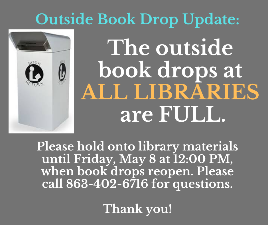 Outside book returns at ALL library locations