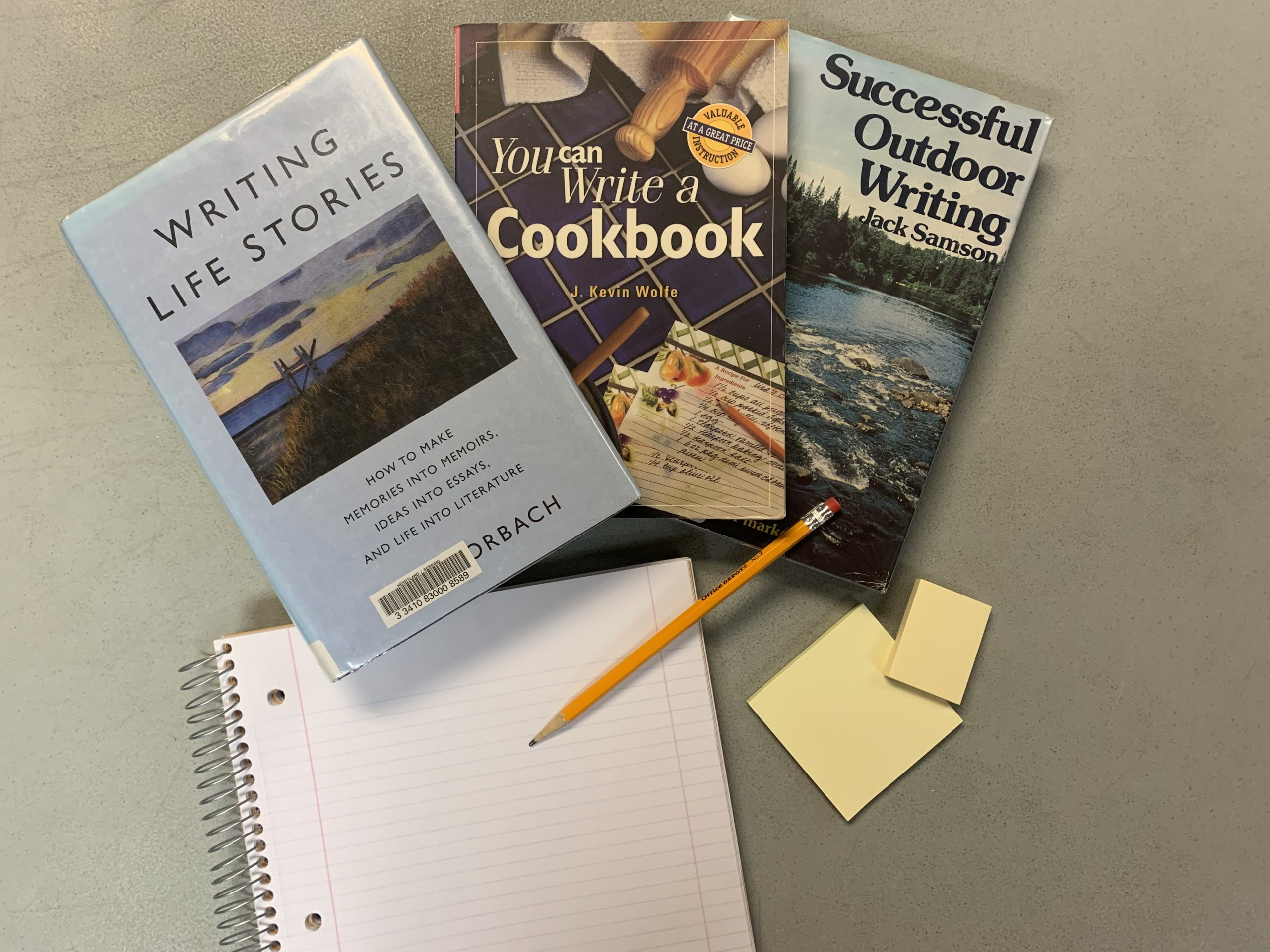 books with notebook