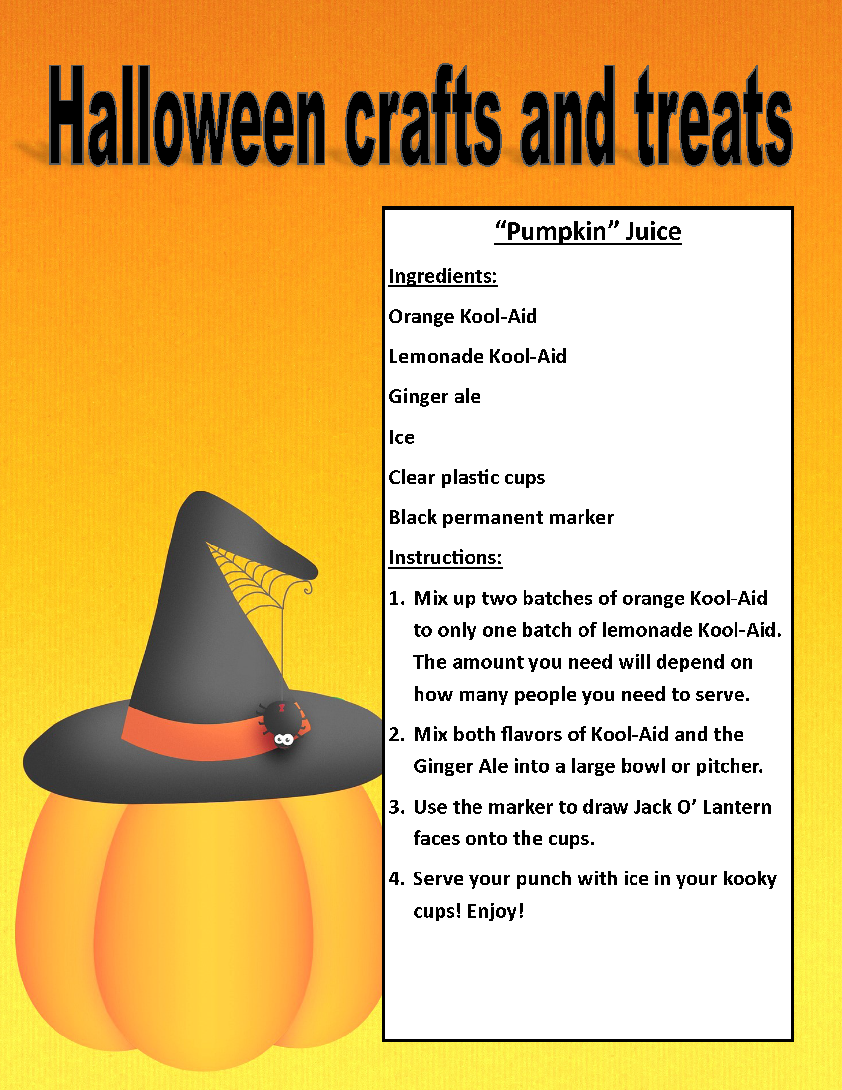 Image of PDF Halloween treat and craft posting (PDF Available for download/printing) Page 2