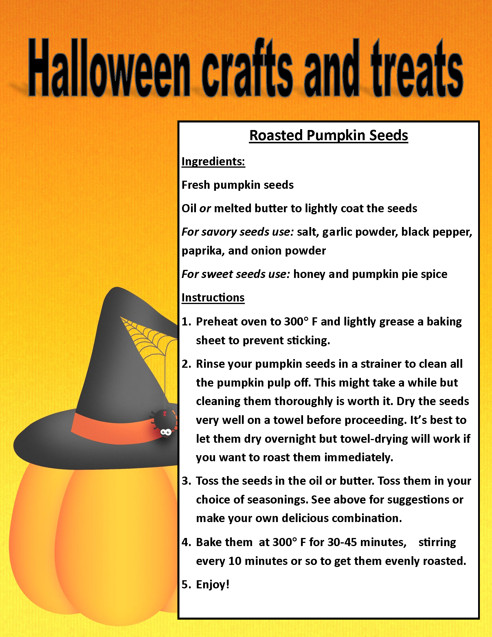 Image of PDF Halloween treat and craft posting (PDF Available for download/printing) Page 3