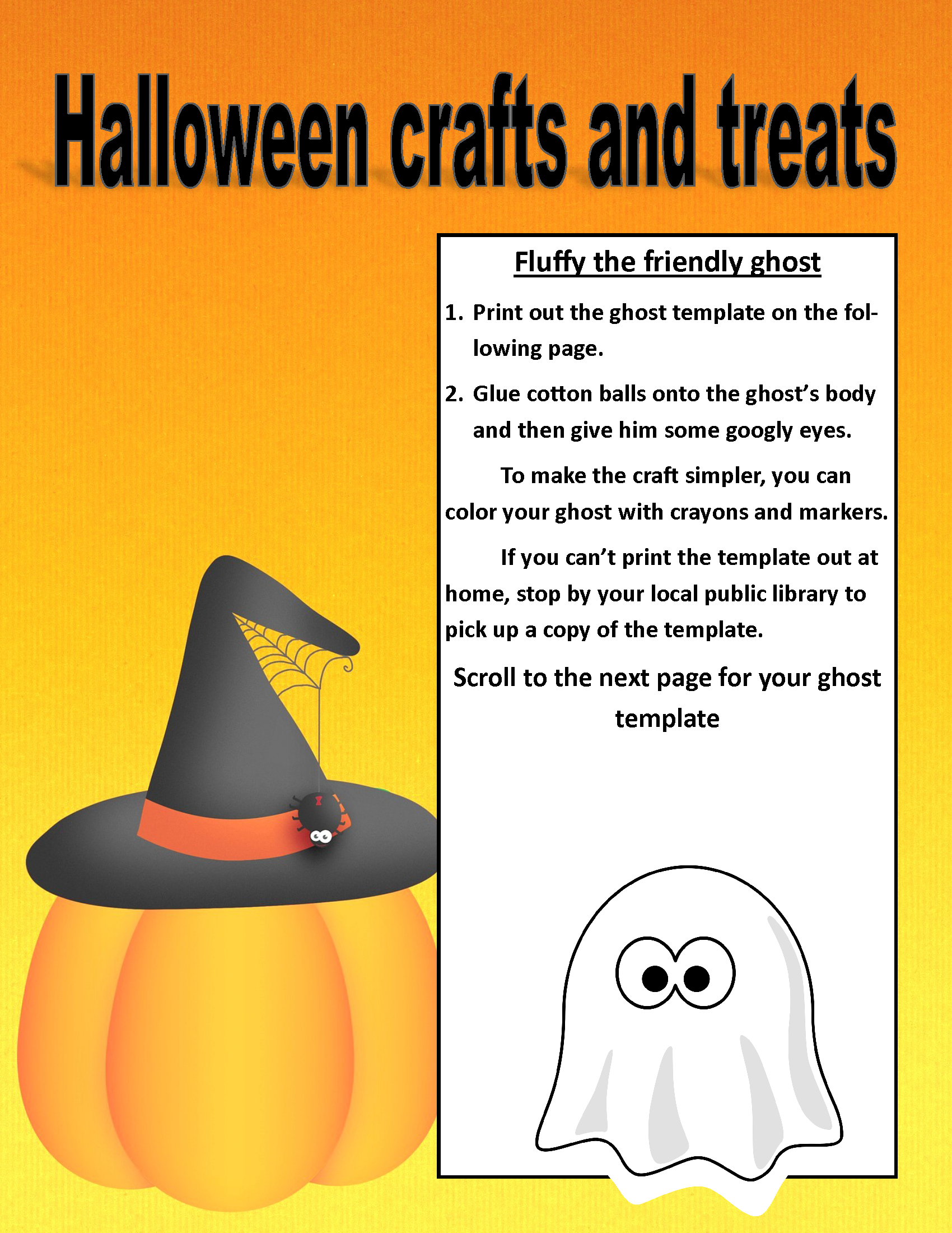 Image of PDF Halloween treat and craft posting (PDF Available for download/printing) Page 5