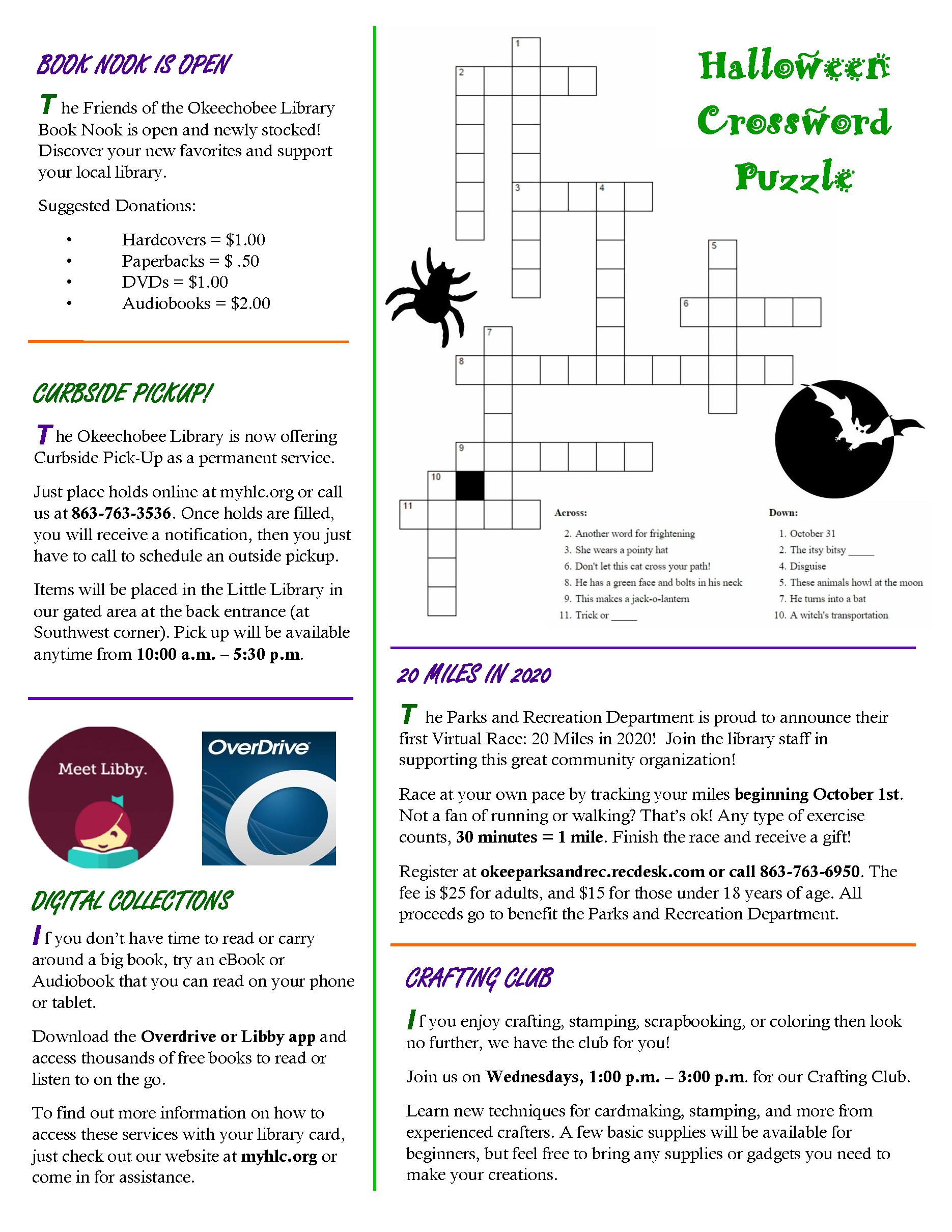 Okeechobee Library September 2020 Newsletter page 3