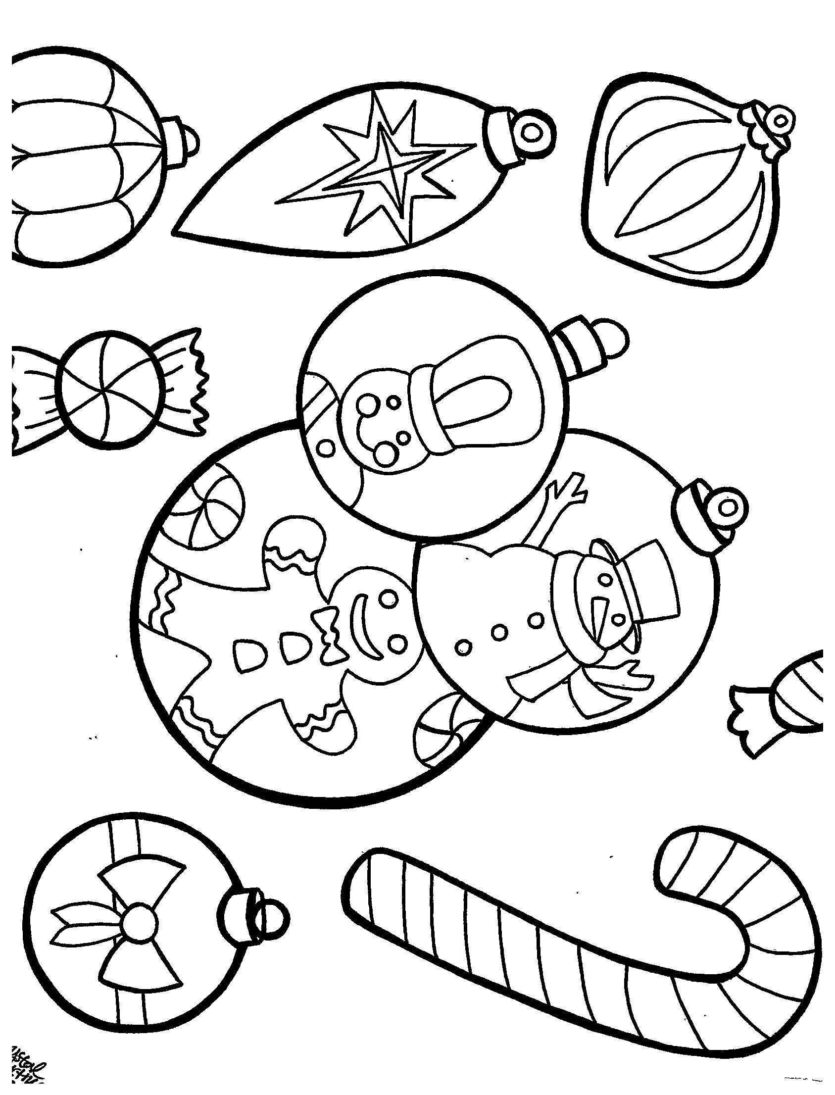 Holiday coloring page by Crystal Martinez