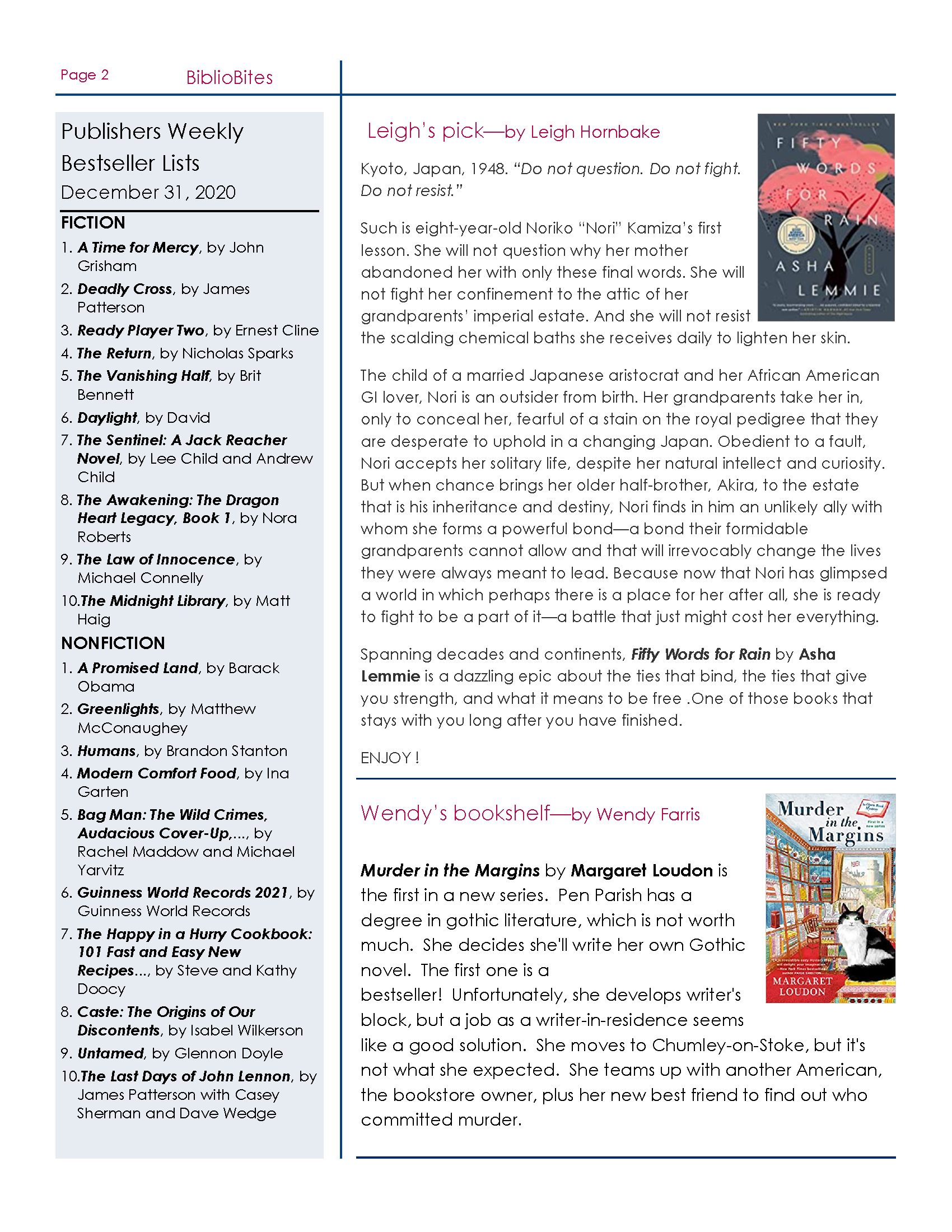 Image Page two of the DeSoto January Newsletter