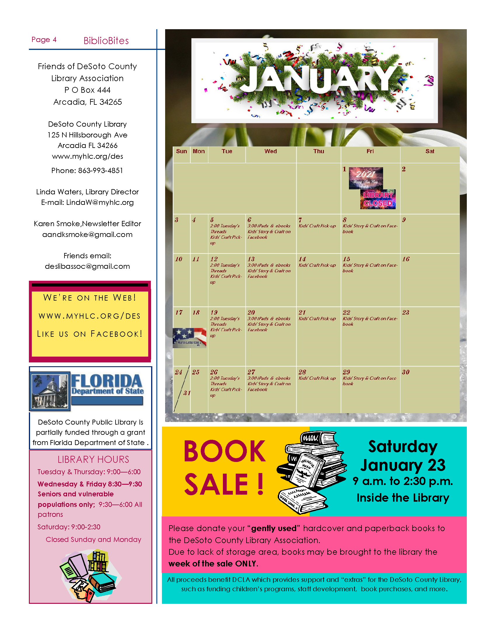 Image Page four of the DeSoto January Newsletter